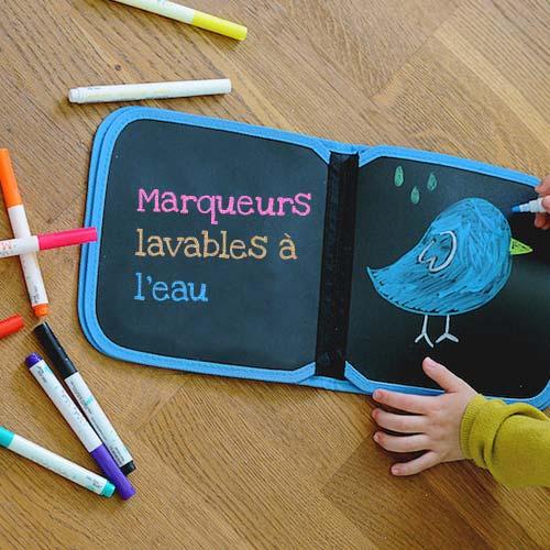 Des super cahiers pour dessiner à la craie sans poussière !